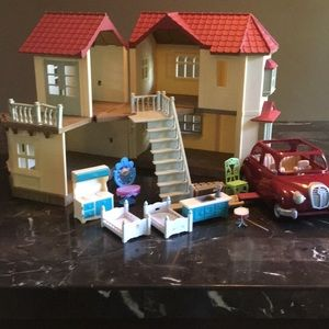Calico Critters Luxury Townhome and Car